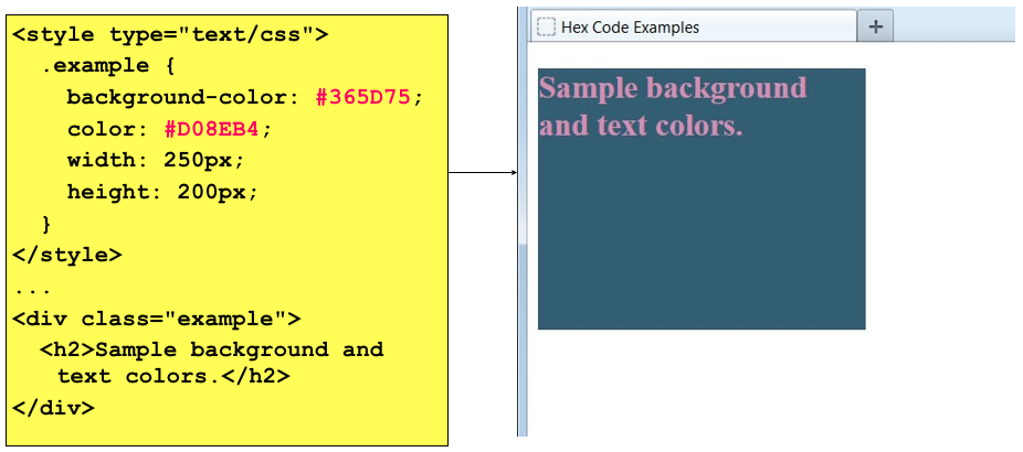 Lets Use The Hex Code We Just Generated From Color Picker Website And Set It As Background For A Div Element Well Different
