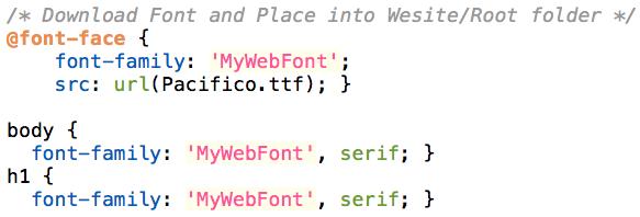 font-face-demo2